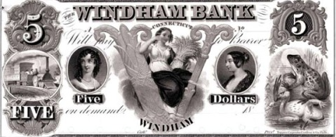 Windham bank private note 1850s