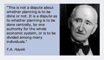 Hayek Central Planning