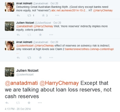 Admati Twitter exchange
