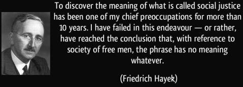 Hayek Social Justice